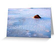 A freezing stone Greeting Card