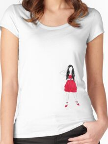 Girl in Red Women's Fitted Scoop T-Shirt