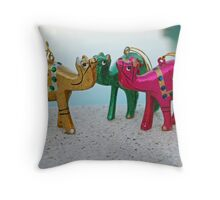 Waiting for the Three Wise Men Throw Pillow