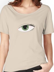 Beautiful green woman eye  Women's Relaxed Fit T-Shirt