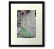 At His Feet Framed Print