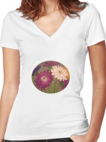 Gerberas Women's Fitted V-Neck T-Shirt