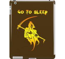 go to sleep iPad Case/Skin