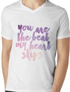 The Beat My Heart Skips Mens V-Neck T-Shirt
