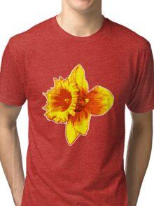 Blood Orange Atomic Daffodil, Fire Flower, Apocalyptic Garden Tri-blend T-Shirt