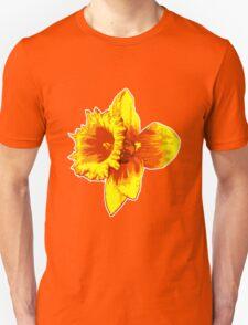 Blood Orange Atomic Daffodil, Fire Flower, Apocalyptic Garden Unisex T-Shirt
