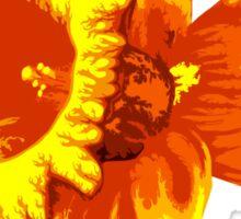 Blood Orange Atomic Daffodil, Fire Flower, Apocalyptic Garden Sticker