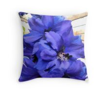 abstract of Delphinium Throw Pillow