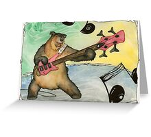 Black Bear Bass Notes Greeting Card
