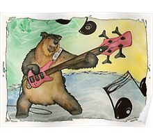 Black Bear Bass Notes Poster