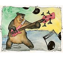 Black Bear Bass Notes Photographic Print