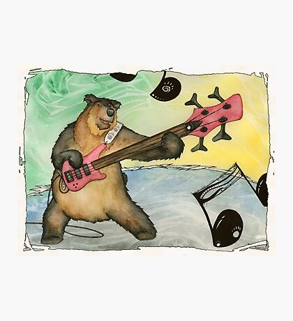 Black Bear Bass Notes Photographic Print
