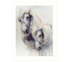 The Boys (harness work horses) Art Print