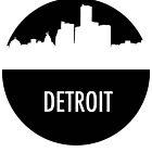 Detroit Skyline Shadow by SasquatchBear