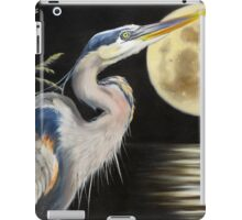 Moon Over Mississippi A Great Blue Herons Perspective iPad Case/Skin