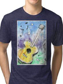 Guitar Notes Tri-blend T-Shirt
