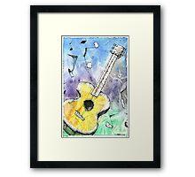 Guitar Notes Framed Print