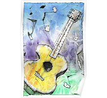 Guitar Notes Poster