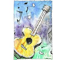 Guitar Notes Photographic Print
