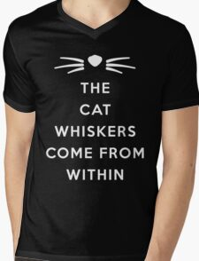 WHISKERS II Mens V-Neck T-Shirt