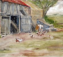 Feeding the Chickens by Colin Cartwright