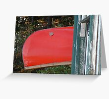 Canoe at Rest Greeting Card