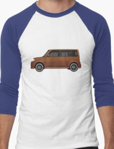 Vectored Boxcar Copper Men's Baseball ¾ T-Shirt