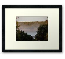 Mist on the Lake Framed Print