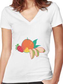 Fruit Punch Women's Fitted V-Neck T-Shirt