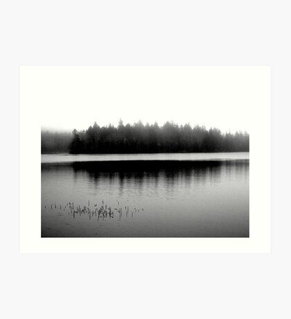 Spectacle Lake in Fog Art Print