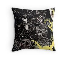 A Deluge of Plague and Stardust Throw Pillow