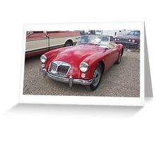 1961 MG A Greeting Card