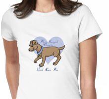 3-Legged Dog T-Shirt Womens Fitted T-Shirt