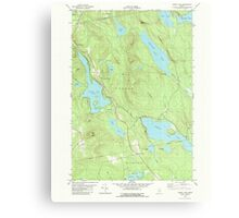 Maine USGS Historical Map Green Lake 105172 1982 24000 Canvas Print
