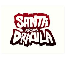 """Santa vs Dracula"" Graphic Novel logo Art Print"