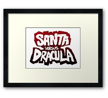 """Santa vs Dracula"" Graphic Novel logo Framed Print"