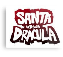 """Santa vs Dracula"" Graphic Novel logo Metal Print"