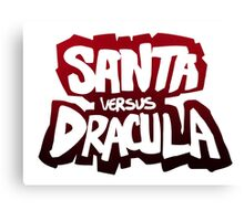 """Santa vs Dracula"" Graphic Novel logo Canvas Print"