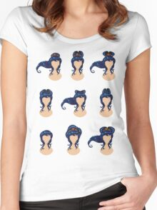 Hair in different styles Women's Fitted Scoop T-Shirt