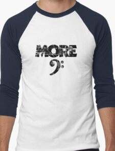 More Bass Vintage Black Men's Baseball ¾ T-Shirt
