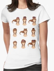 Hair in different styles 2 Womens Fitted T-Shirt