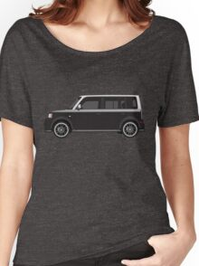 Vectored Boxcar Two Tone Silver/Black Women's Relaxed Fit T-Shirt