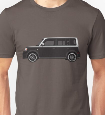 Vectored Boxcar Two Tone Silver/Black Unisex T-Shirt
