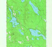 Maine USGS Historical Map Green Lake 806736 1982 24000 by wetdryvac