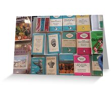 Books - blue Greeting Card