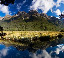 'Mirror Lakes', New Zealand by Dan Gallagher