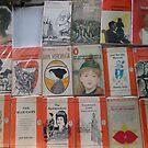 Books - orange by Robin Clark