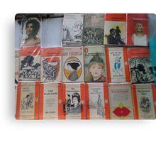 Books - orange Canvas Print