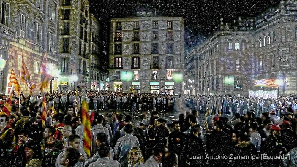 ...the sound of marching, charging feet, boy... (P1150976 _XnView _Photofiltre) by Juan Antonio Zamarripa