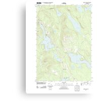 Maine USGS Historical Map Green Lake 20110909 TM Canvas Print